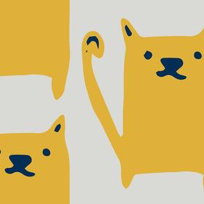Cute Cat Yellow