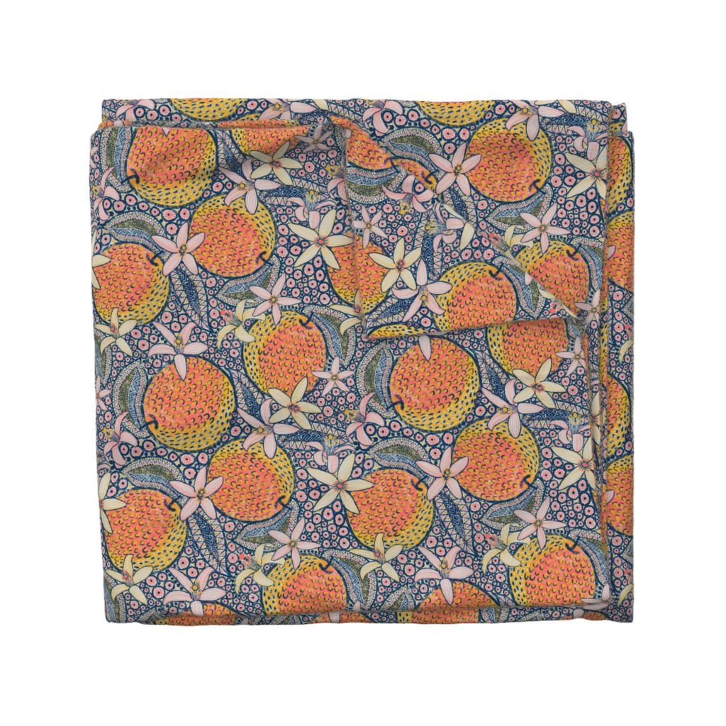 """Wyandotte Duvet Cover featuring African Oranges 14"""" by helenpdesigns"""