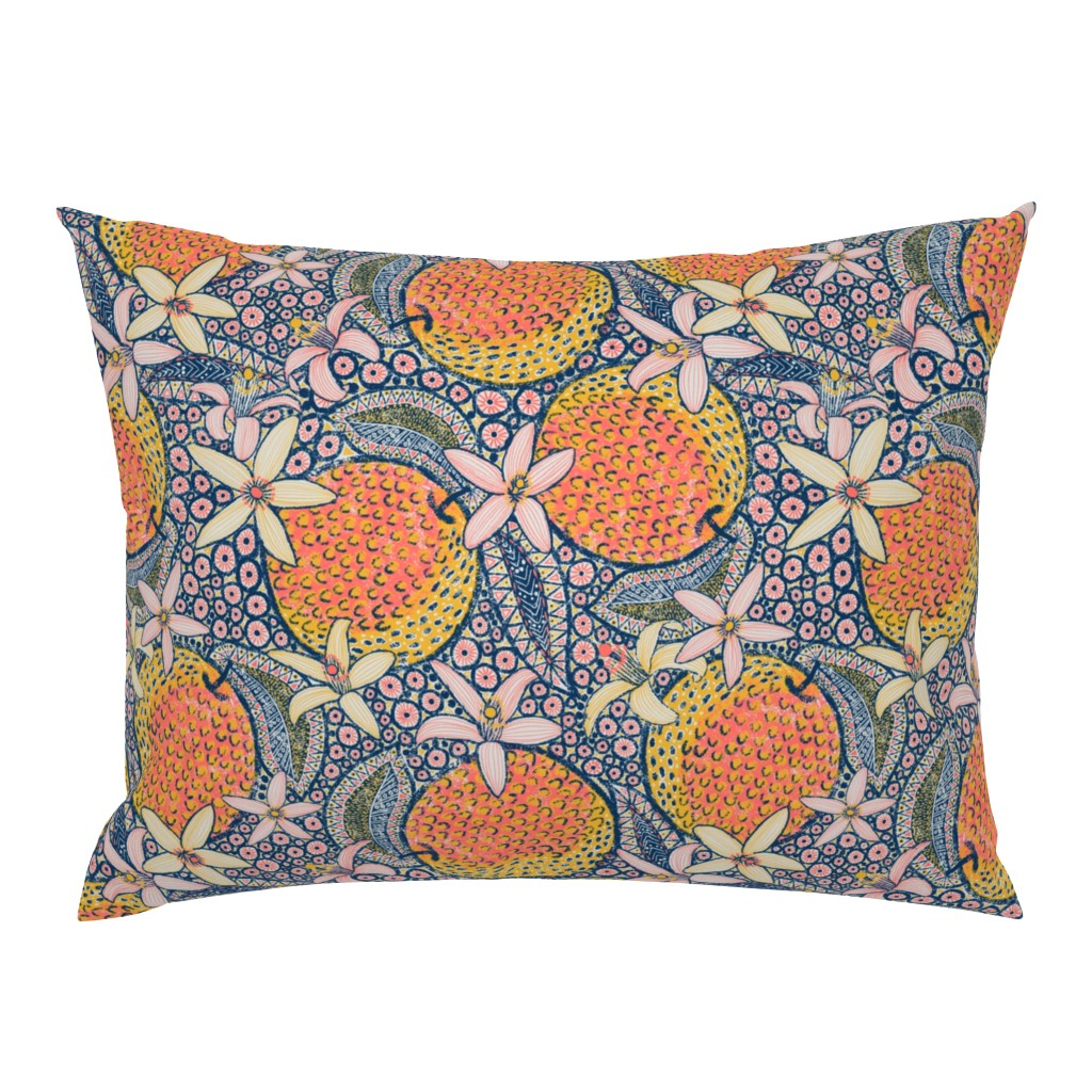 """Campine Pillow Sham featuring African Oranges 14"""" by helenpdesigns"""