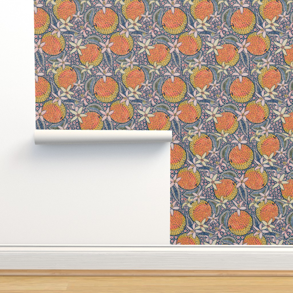 "Isobar Durable Wallpaper featuring African Oranges 14"" by helenpdesigns"