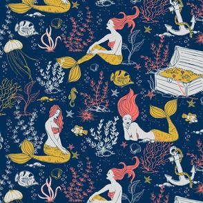Mermaids-limited color palette