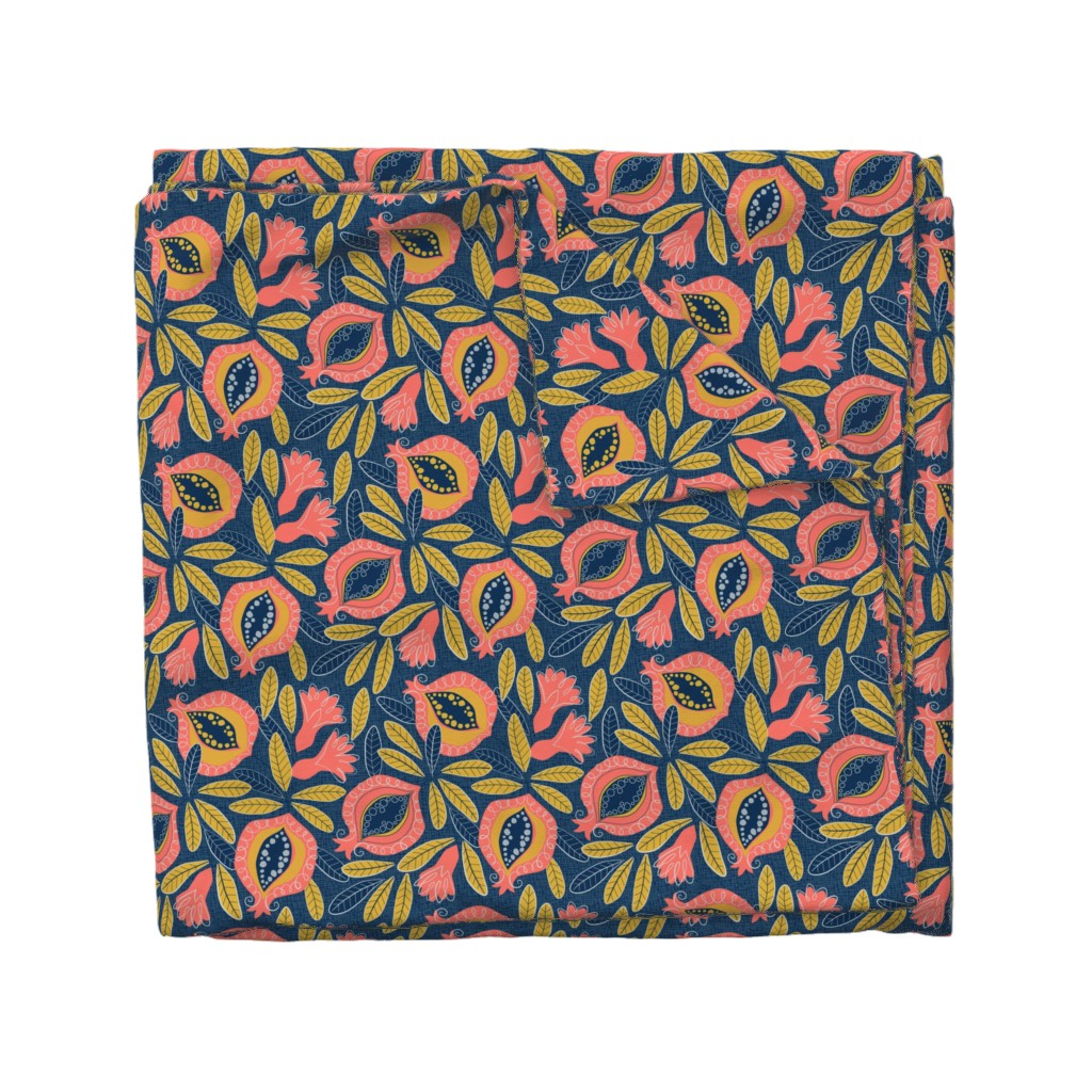 Wyandotte Duvet Cover featuring Pomegranate by lily_studio