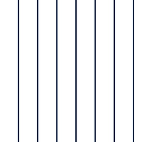 Navy pinstripe on white