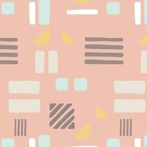 Soft shapes - pink
