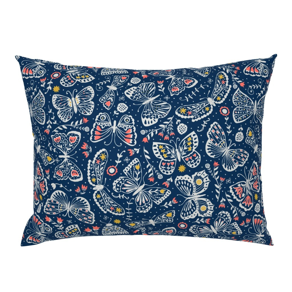 Campine Pillow Sham featuring Late Night Lepidoptera  by studio_amelie