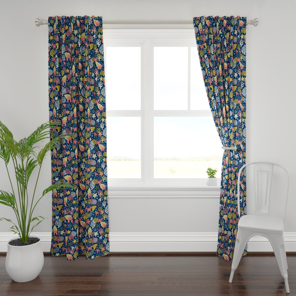 Plymouth Curtain Panel featuring Herman the Hermit by handypanda