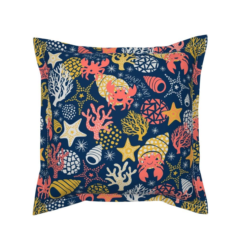 Serama Throw Pillow featuring Herman the Hermit by handypanda