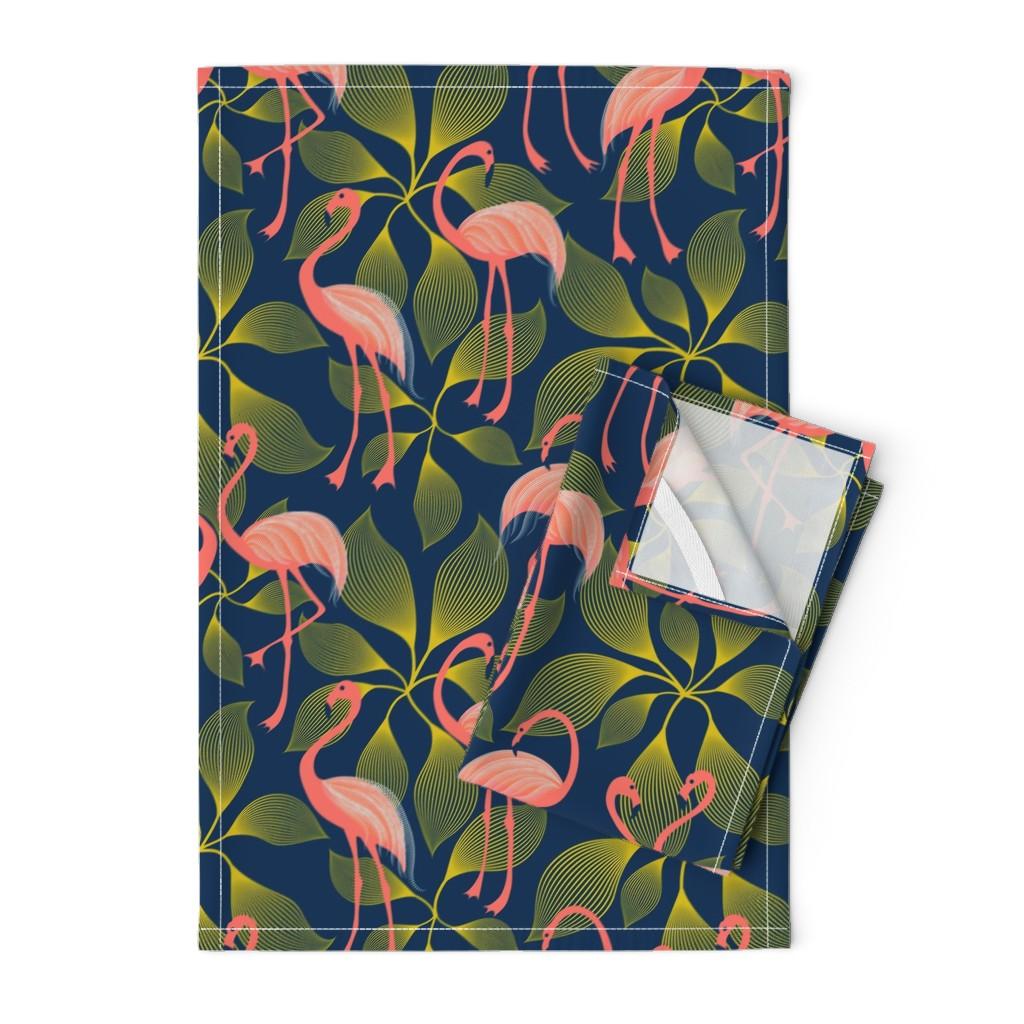 Orpington Tea Towels featuring Fabulous 50's Flamingos by vo_aka_virginiao