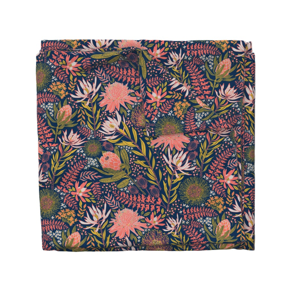 Wyandotte Duvet Cover featuring Protea Garden by honoluludesign
