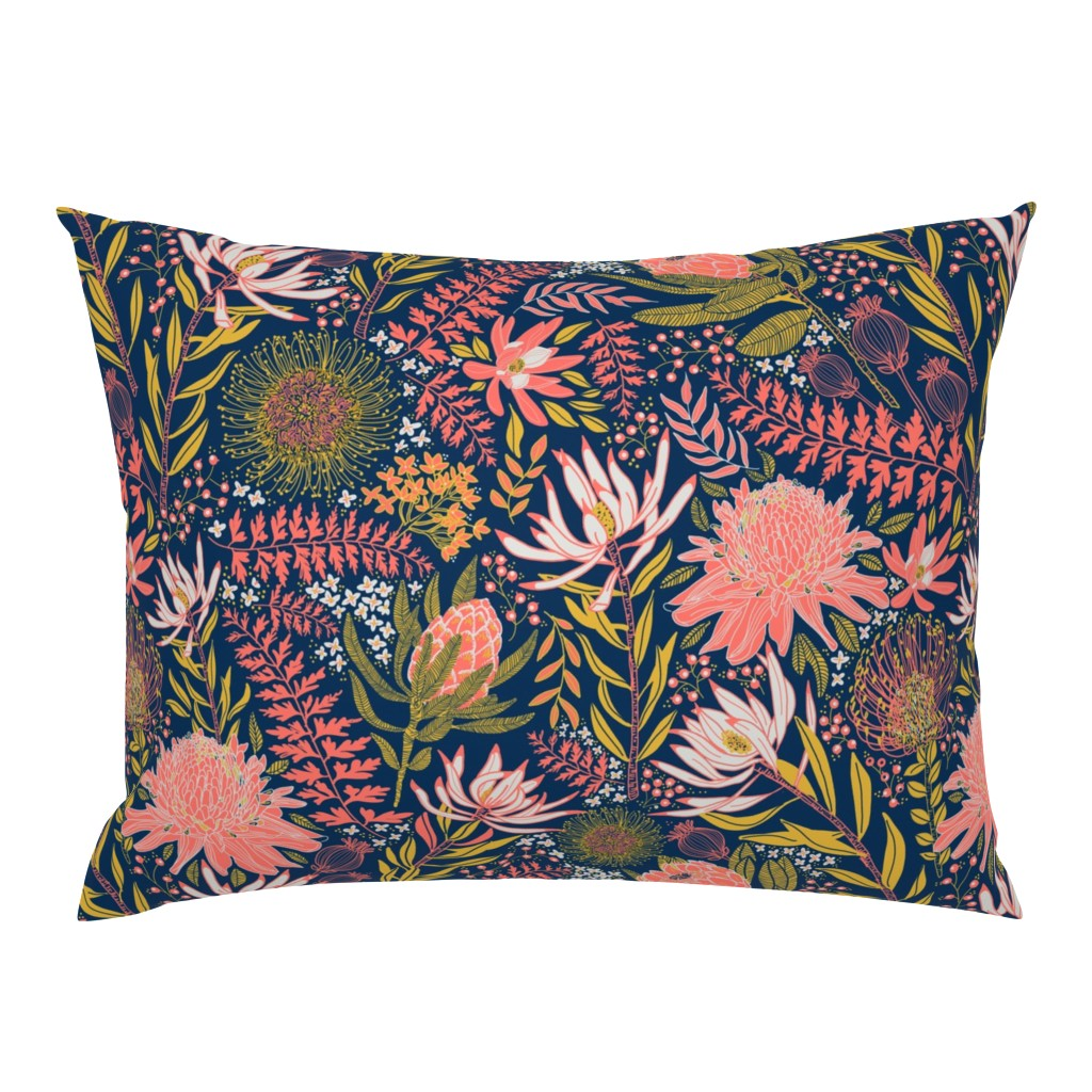 Campine Pillow Sham featuring Protea Garden by honoluludesign