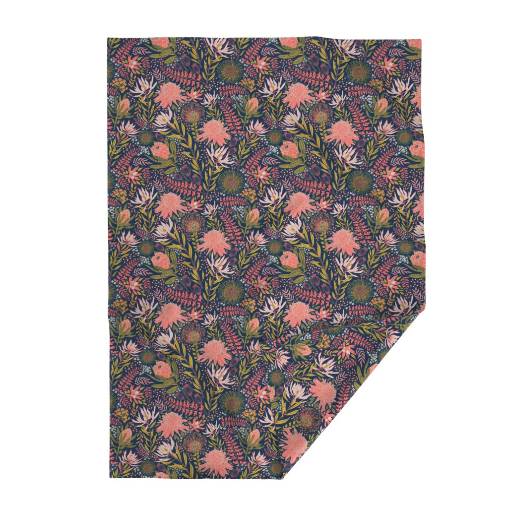 Lakenvelder Throw Blanket featuring Protea Garden by honoluludesign