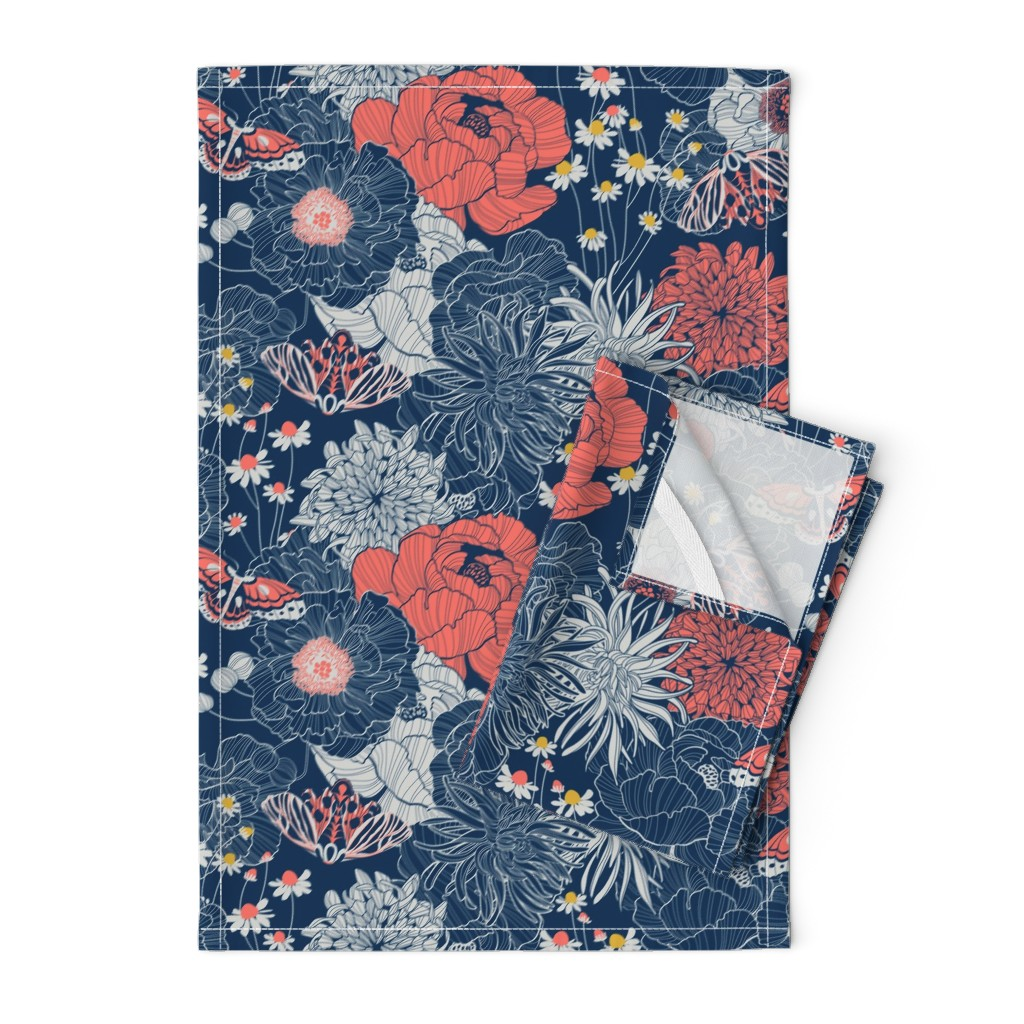Orpington Tea Towels featuring ornamental garden by cjldesigns