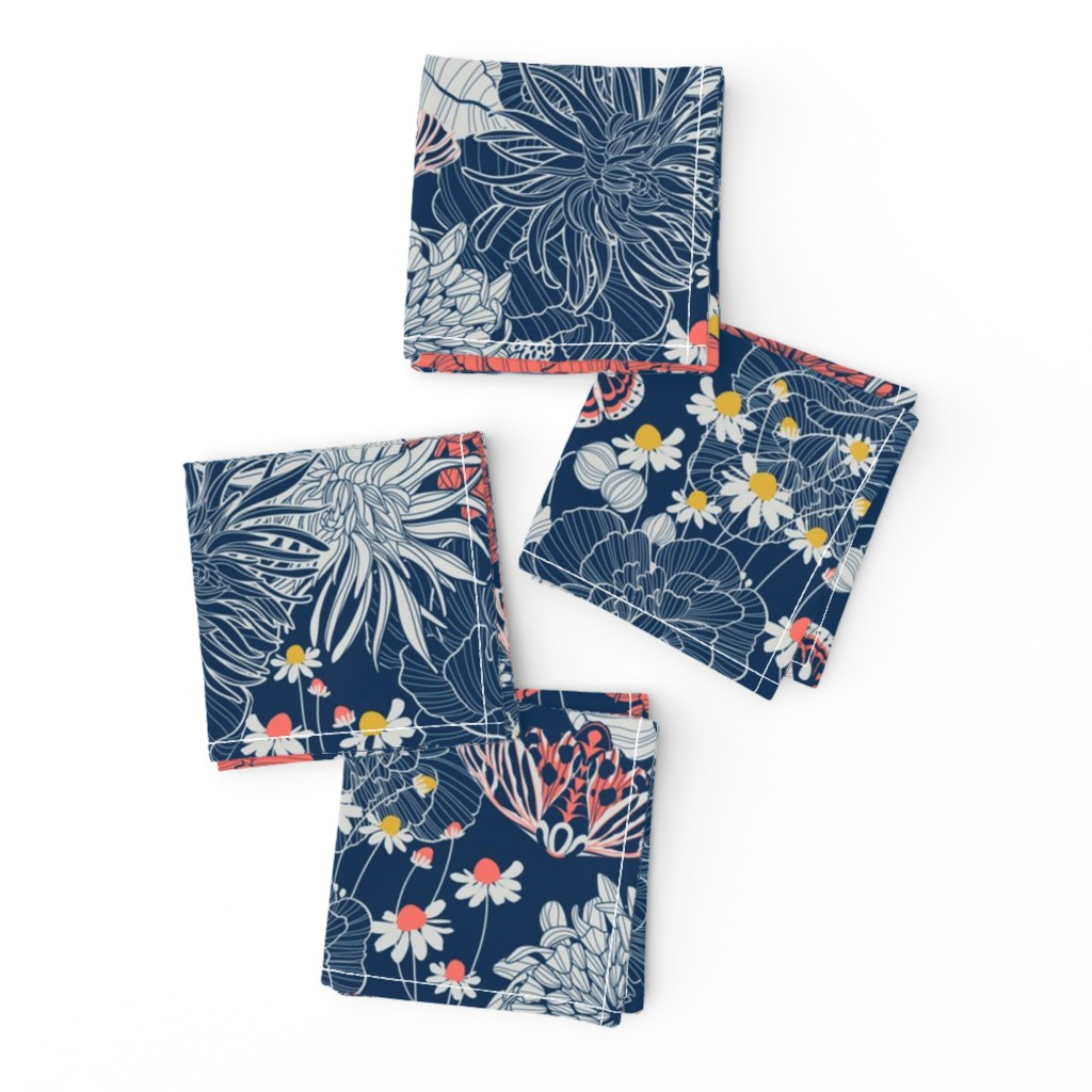 Frizzle Cocktail Napkins featuring ornamental garden by cjldesigns