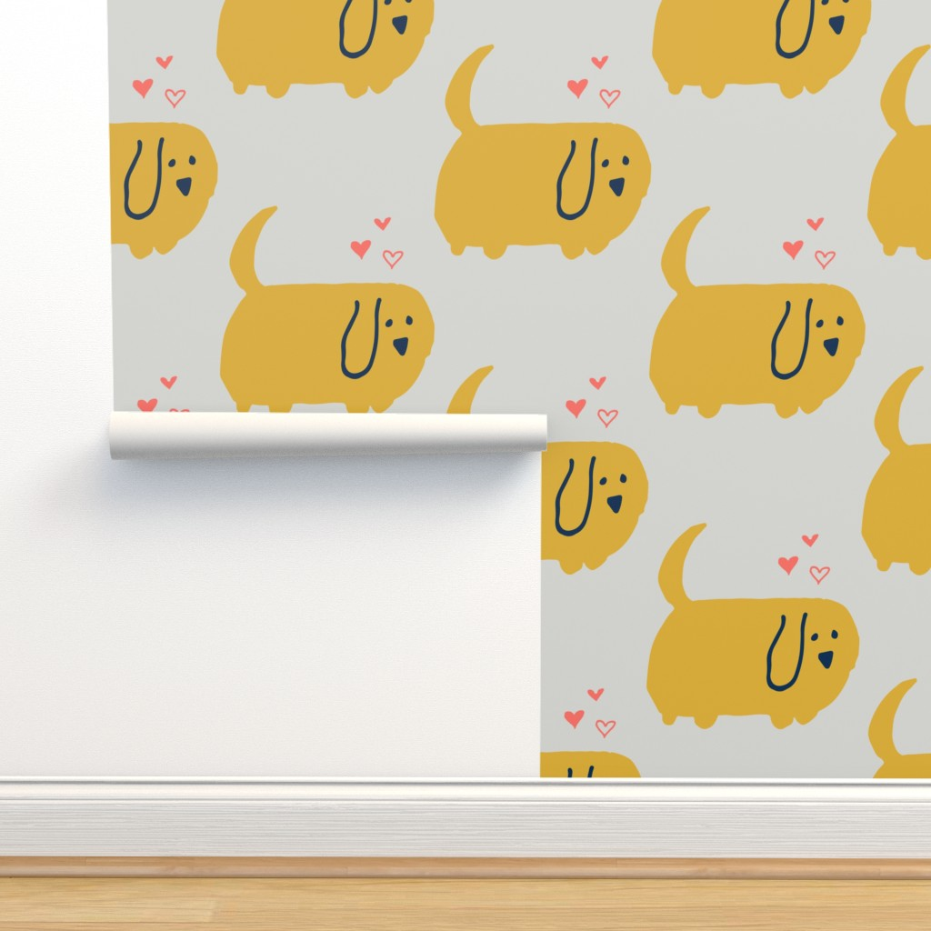 Isobar Durable Wallpaper featuring Cute Dog  Yellow by bruxamagica