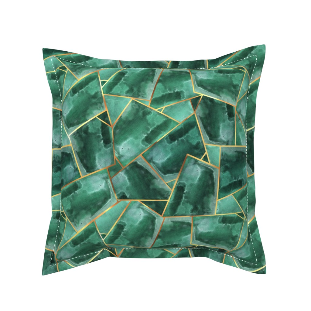 Serama Throw Pillow featuring modern oasis by torysevas