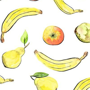 Apples, bananas and pears