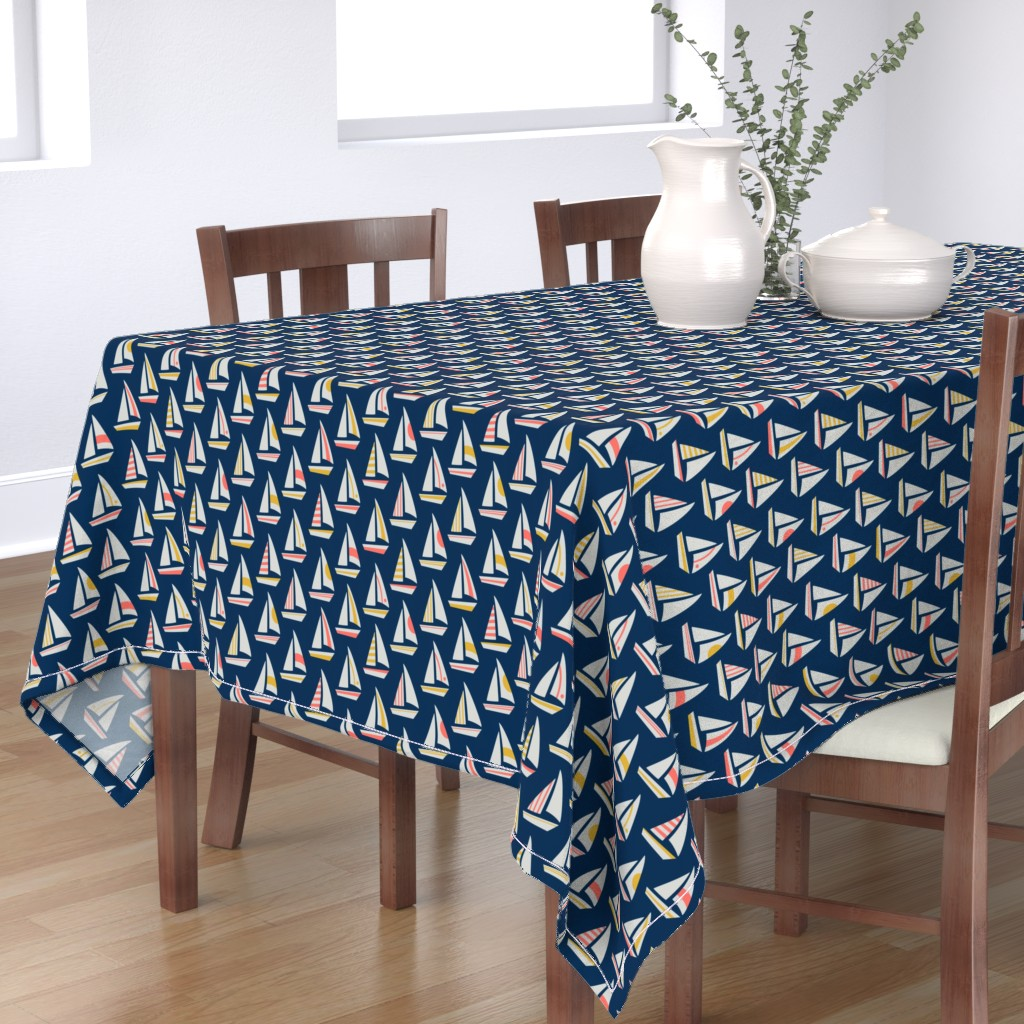 Bantam Rectangular Tablecloth featuring Sail Away by dunnspun