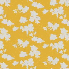 Cherry Blossom Silhouette - Yellow
