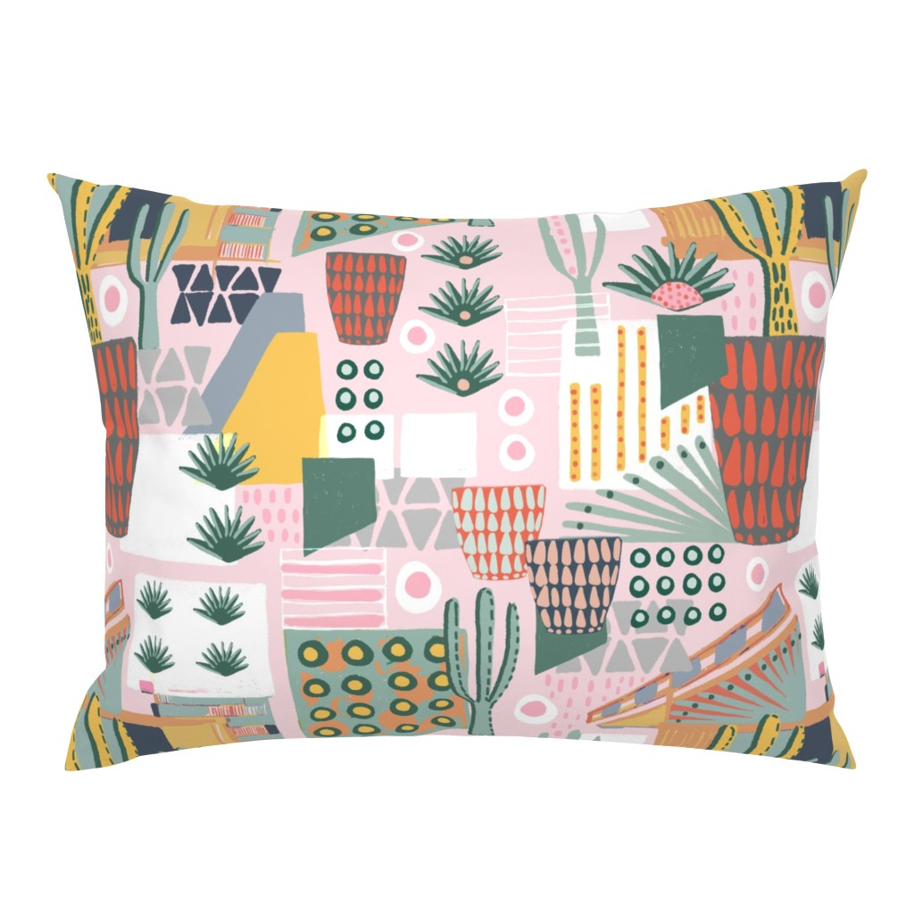 Campine Pillow Sham featuring Desert Home Landscape by slumbermonkey