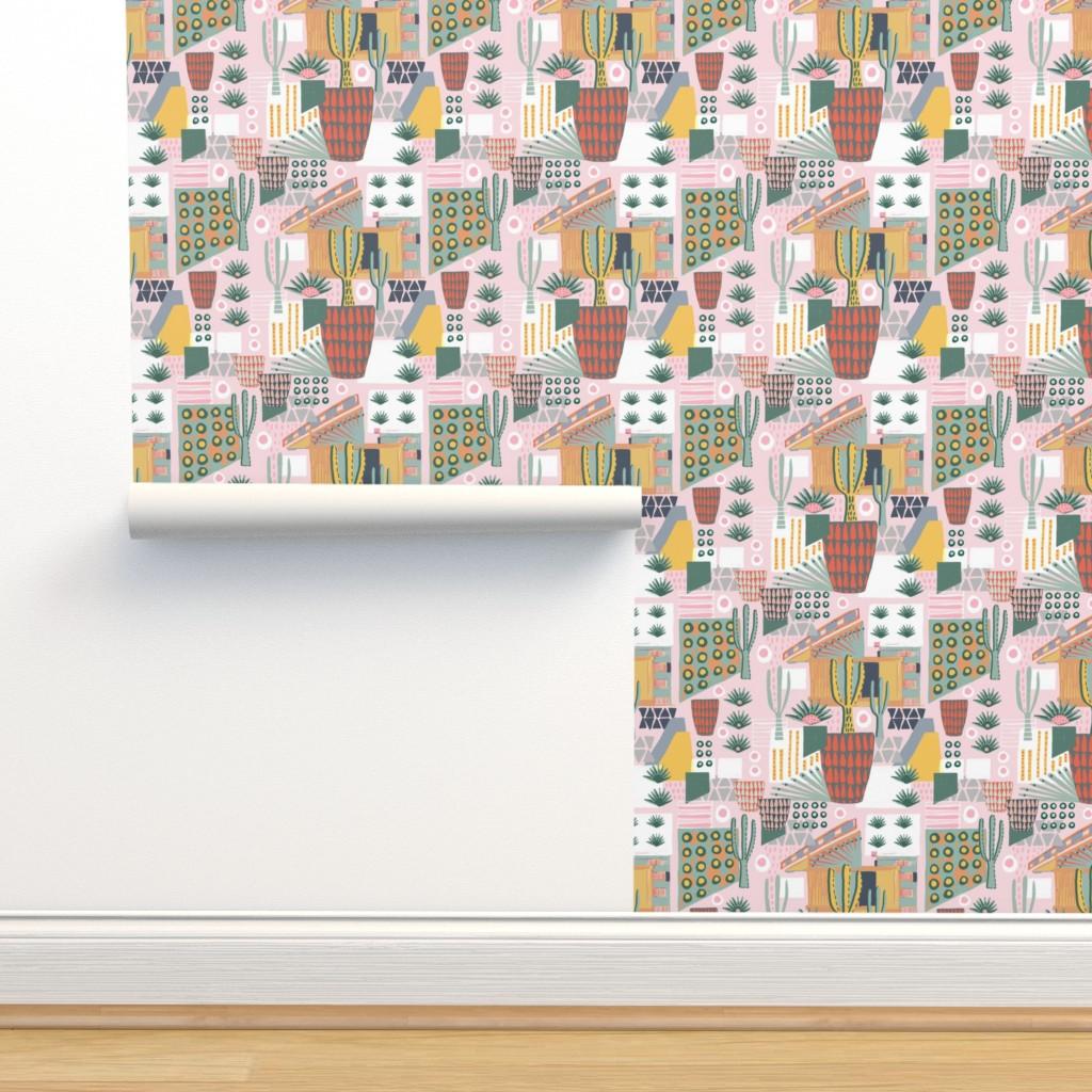 Isobar Durable Wallpaper featuring Desert Home Landscape by slumbermonkey