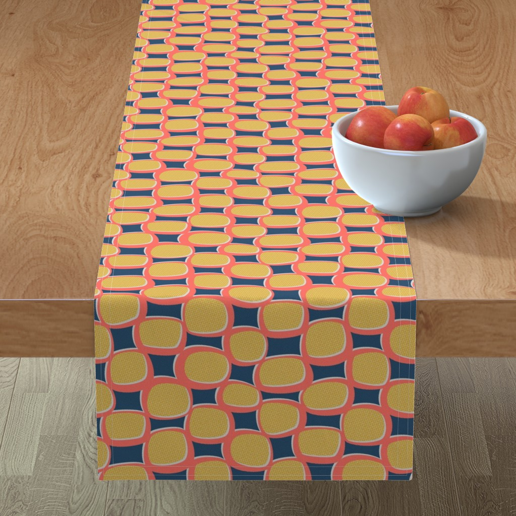 Minorca Table Runner featuring Mod Halftones by autumn_musick