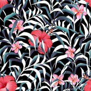 Dark pattern with flowers