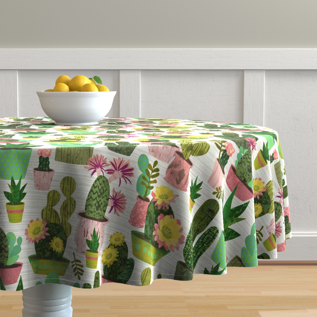 Malay Round Tablecloth featuring Desert Colors by sarah_treu