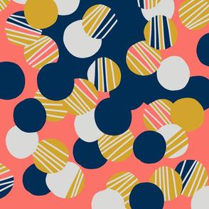 Mid Mod Organic Confetti Pattern