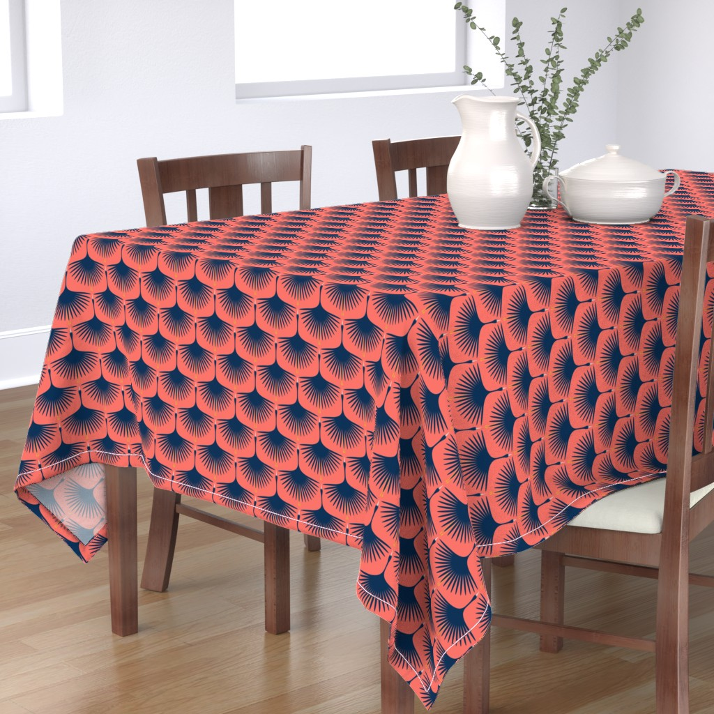 Bantam Rectangular Tablecloth featuring Swans in the Sunset by katerhees