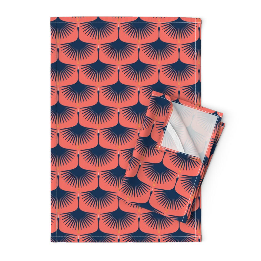 Orpington Tea Towels featuring Swans in the Sunset by katerhees