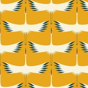 "Whooping Crane Migration (24"" wingspan wallpaper)- Sunshine - Larger"