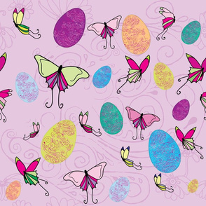 Easter Eggs and butterflies small