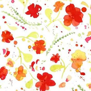 Watercolor Nasturtium Floral