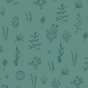 Prickly Meadow - Teal