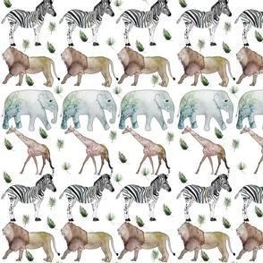 Jungle Safari (muted colors)