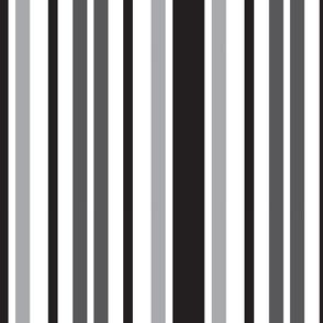 Stripes Pattern Gray Black White