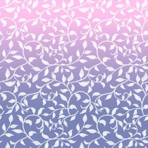 White vines on pink purple ombre
