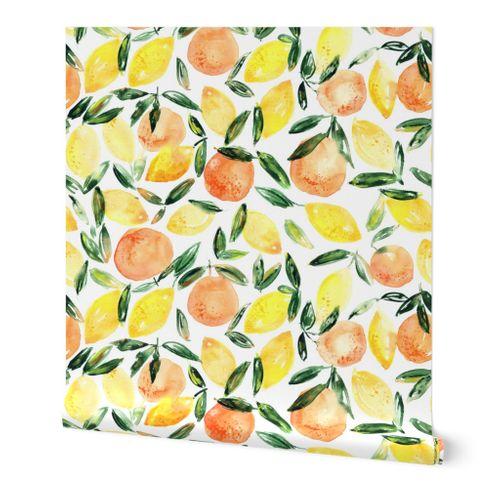 Citron Fruits Savoureux saine aquarelle en c/éramique Bisque carrelage de salle de bain D/écor de cuisine Carreaux de c/éramique murale Carreaux Small