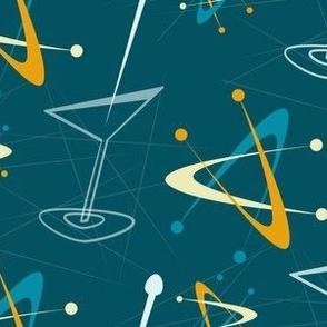 Blue and orange atomic cocktails