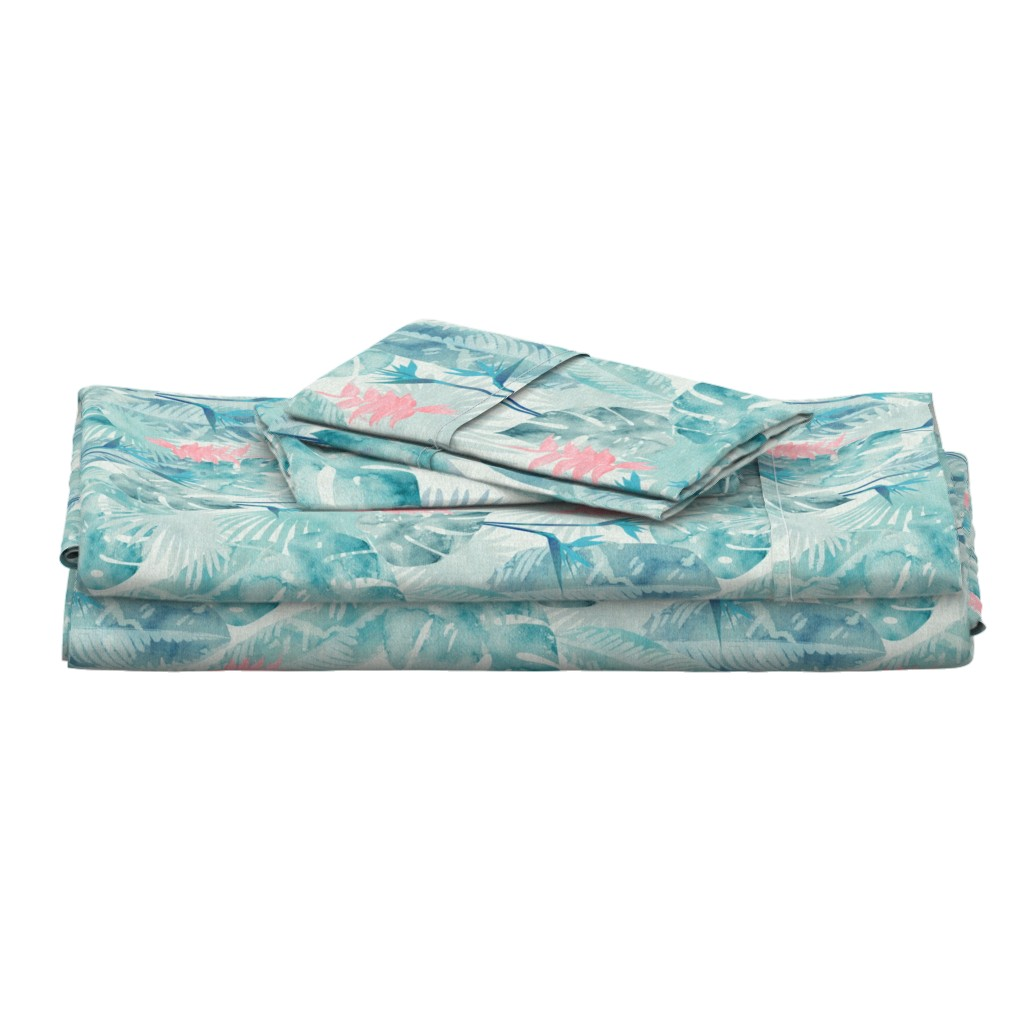 Langshan Full Bed Set featuring Tropical Paradise by kimsa