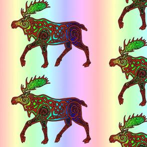Celtic Rainbow Moose