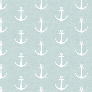 anchors on blue - nautical - LAD19
