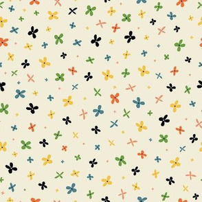 teeny tiny colorful flowers