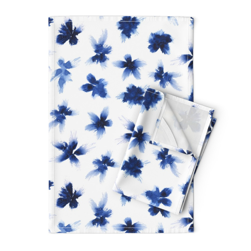 Orpington Tea Towels featuring Indigo spring (size L) by anya_d
