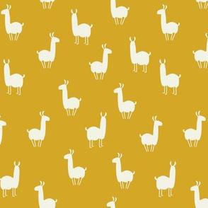 Llamas small mustard