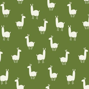 Llamas small olive green
