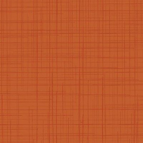 Fall Orange Pumpkin Linen Texture Solid