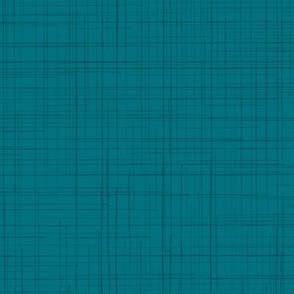 19-02W Blue Green Teal Linen Texture Solid
