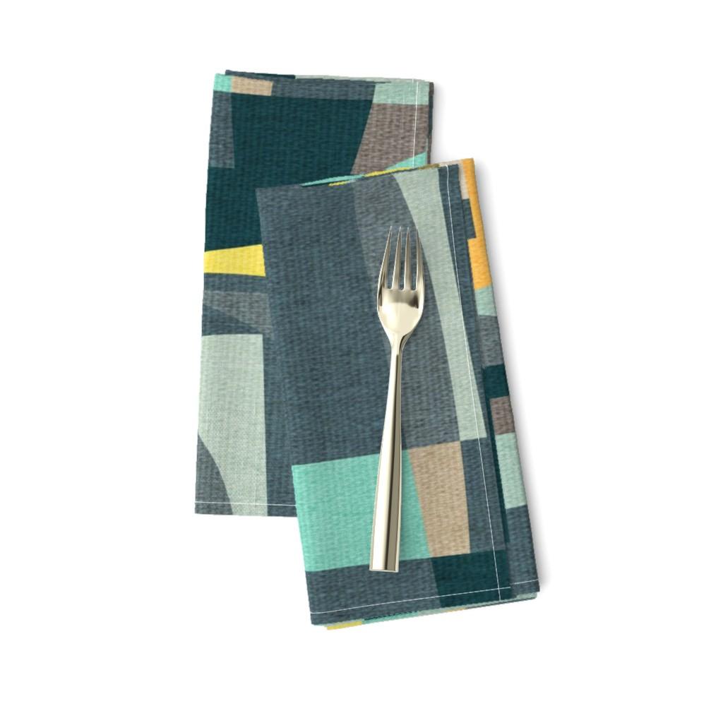 Amarela Dinner Napkins featuring Modern Oasis {Aquamarine} by ceciliamok