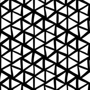 Triangle mosaic reversed - white on black
